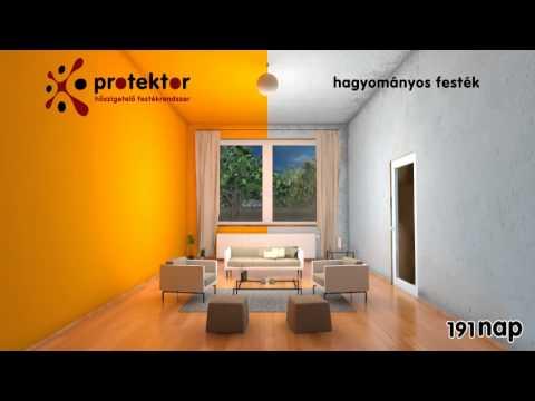 f33659987a Protektor hőszigetelő falfesték beltérben - YouTube