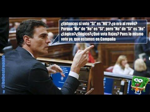 Memes de Pedro Sánchez que  se equivoca y vota a favor  del aborto