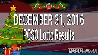 PCSO Lotto Results December 31, 2016 (6/55, 6/42, 6D, Swertres & EZ2)