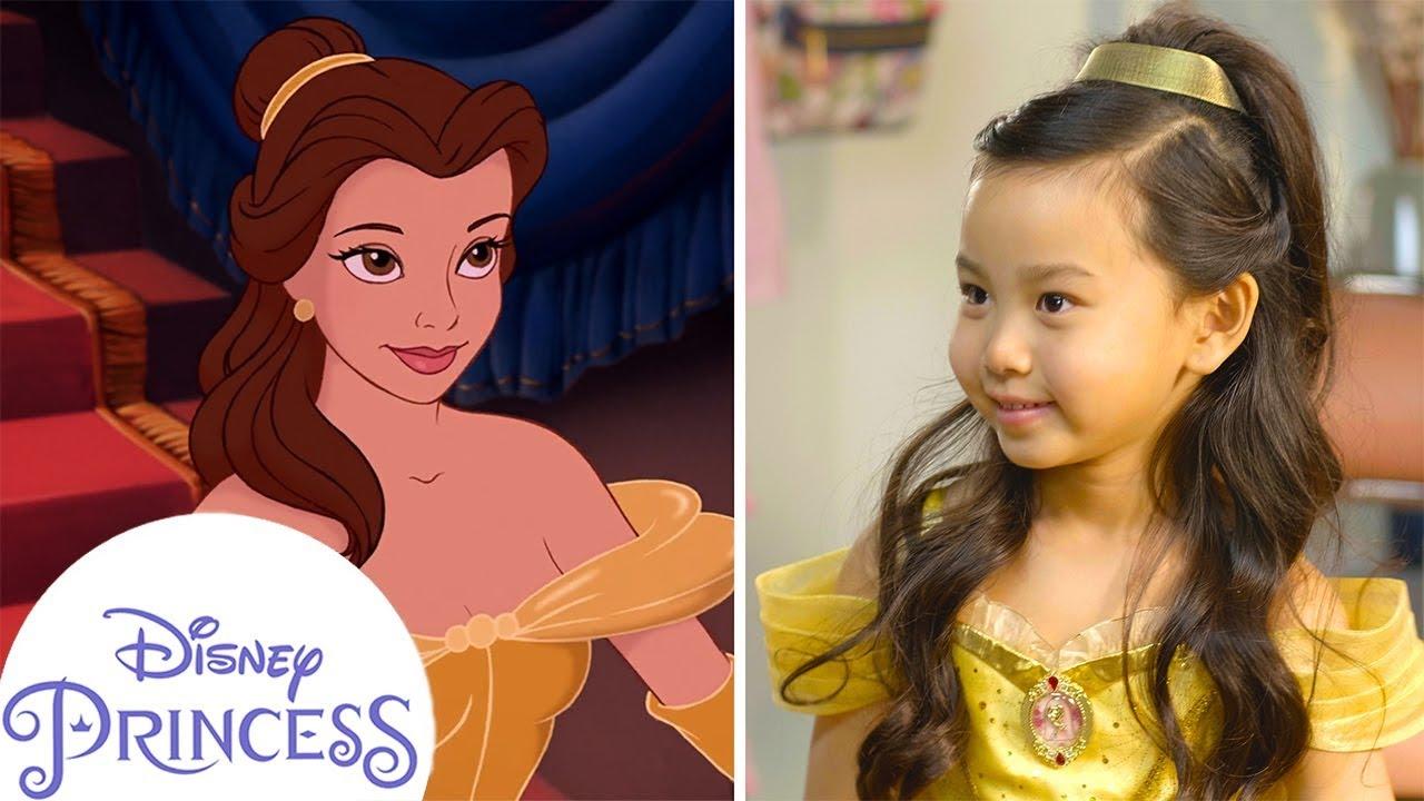 belle inspired hair tutorial