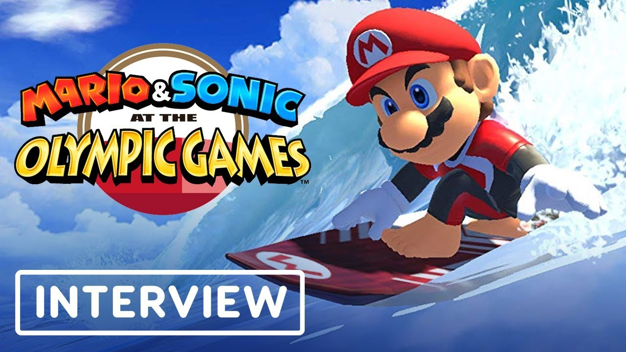 Mario And Sonic At The Olympic Winter Games 2020.Mario Sonic At The Tokyo 2020 Olympic Games Interview Ign Live E3 2019