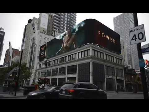 Media Resources Yonge and Dundas Roofscape LED Display Build and Installation Timelapse