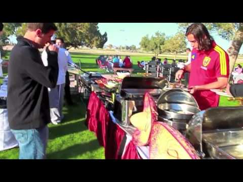 Real Salt Lake - AZ Academy players having a cook-out with Real Salt Lake First Team