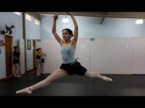 Blind girls train to be ballerinas in Sao Paulo