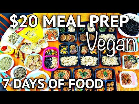 VEGAN MEAL PREP FOR $20 (FULL WEEK OF FOOD!)