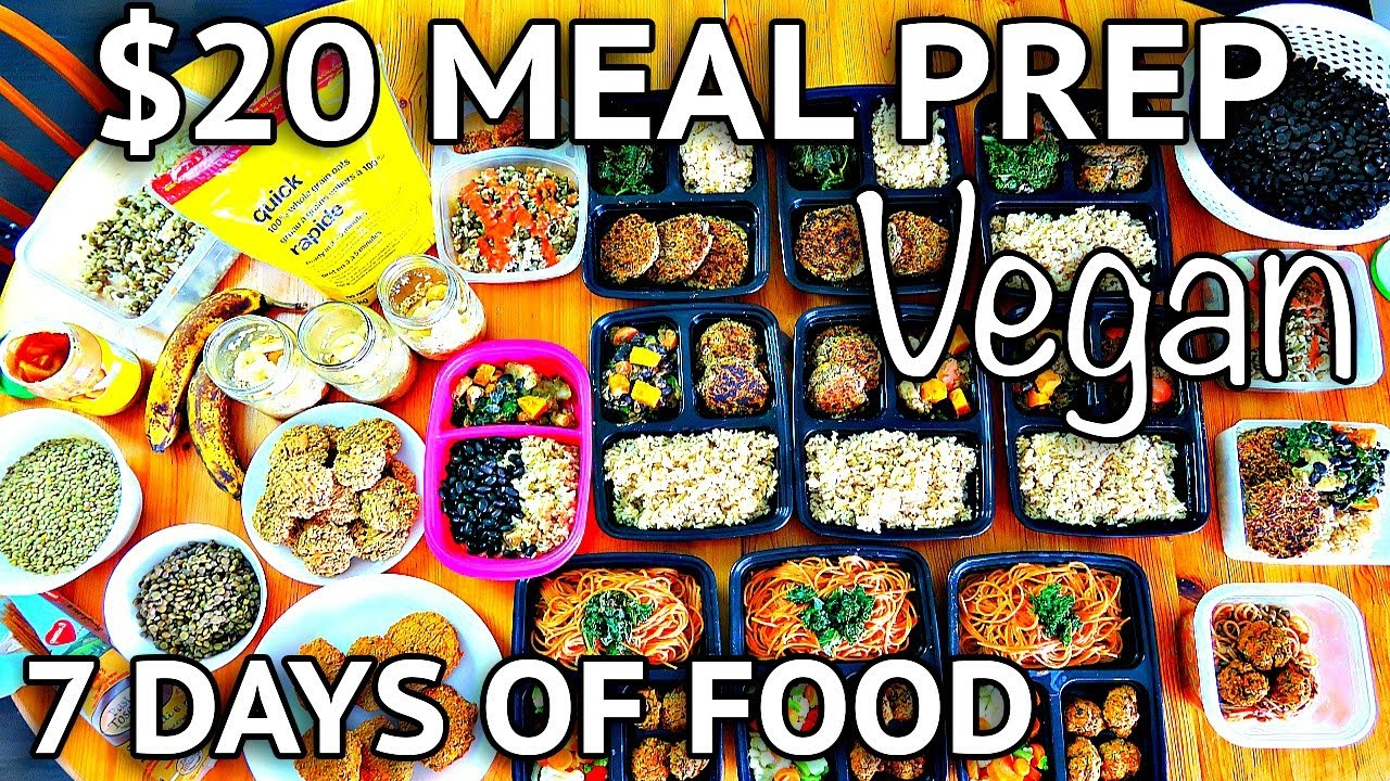 $20 Vegan Meal Prep (7 full days!) | Cheap Lazy Vegan