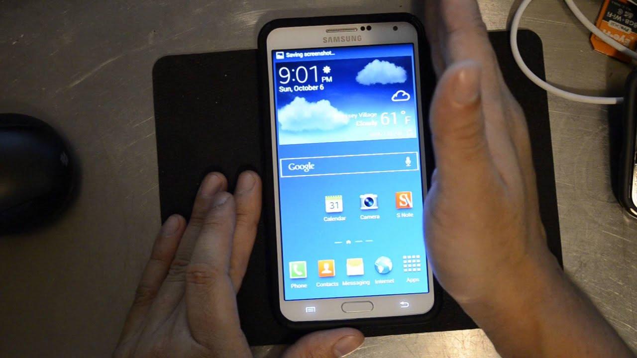 Samsung Galaxy Note 3 3 Ways To Take Screenshots Youtube