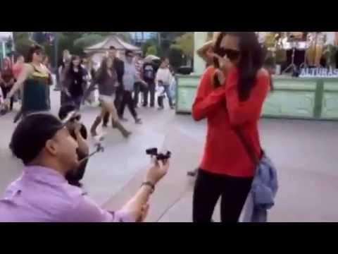 I Think I Wanna Marry You Proposal Downtown Disney Youtube