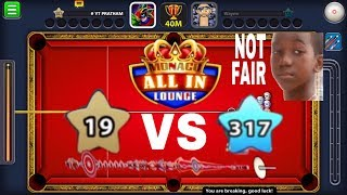8 Ball pool / All In 40 Million / Level 19 vs Level 317/ Epic Game