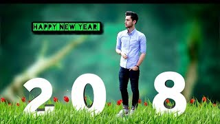Happy new year 2018 photo editing  picart