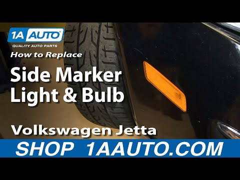 How to Replace Side Marker Light and Bulb 05-10 Volkswagen Jetta