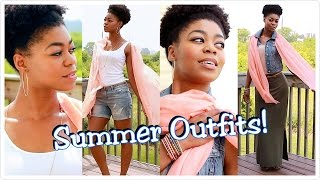 2 Easy Summer Outfits! - Ootd Feat. Mooncats 100% Pure Cashmere Peach Sorbet Scarf - Naturalme4c