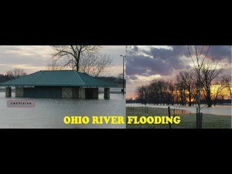 February 19, 2018 Ohio river flooding north of Downtown Louisville, KY