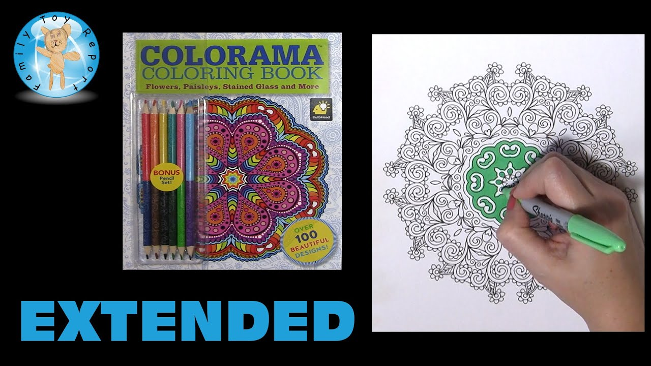 Colorama Coloring Book As Seen On TV Flowers Paisleys Stained Glass Extended