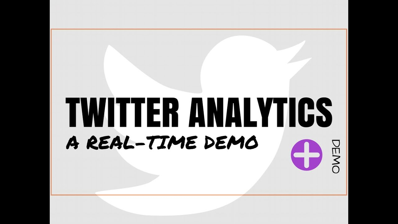 Native Twitter Analytics Overview - A Real-Time Demo