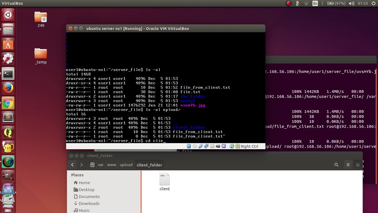 Ubuntu - Download a file from server and upload file to server using  SSH(scp)