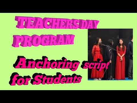 Anchoring On Teachers Day Program Youtube