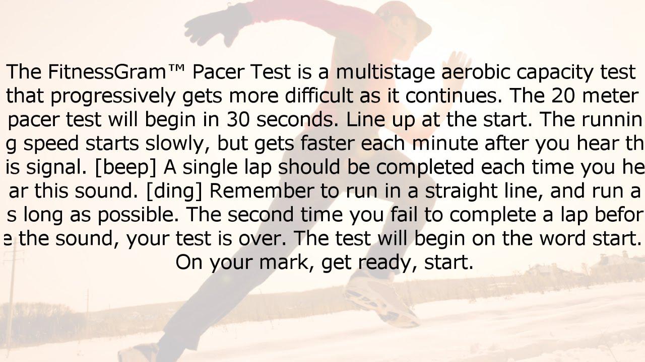 Fitnessgram Pacer Test Words