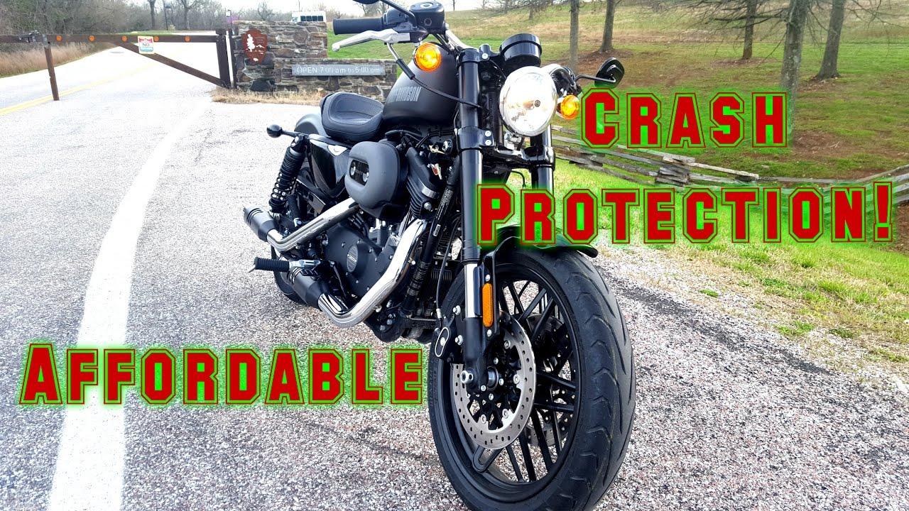Harley Davidson Roadster/Iron 883 Sportster Frame Sliders | Install ...