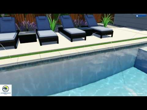 Pool Remodeling Plano Tx | Square Shaped Pool with Deck Jets