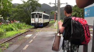 JR江川崎駅までお見送り 四万十ウォッチング2015年夏