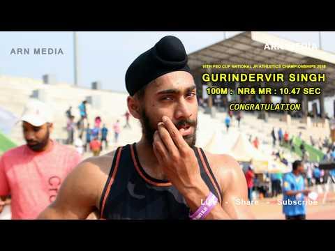 Junior Boys 100m Run Final - Federation Cup National Athletics Championships 2018
