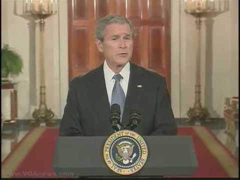 Bush Delivers His Farewell Address