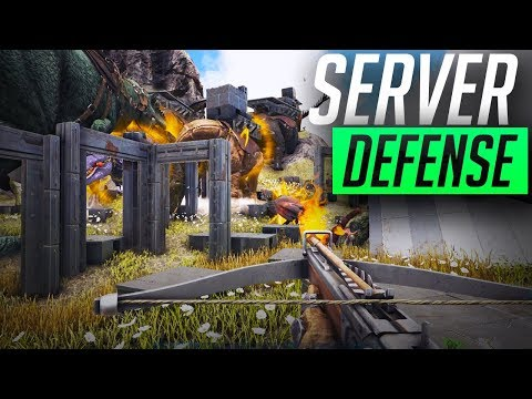 HE SNUCK  INTO THE BASE | SERVER DEFENSE | OFFICIAL ARK PVP | Ep 54