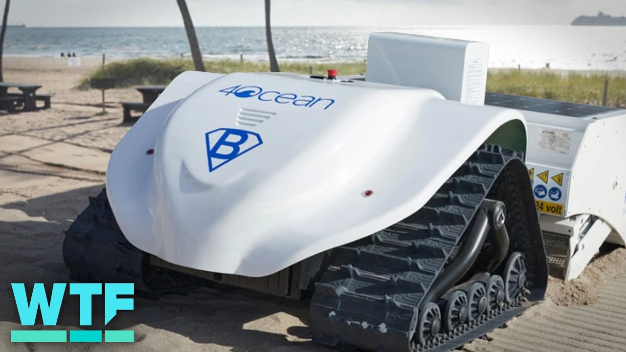 Meet the fully electric robot cleaning beaches ?