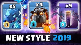 TH12 New Style 2019 Lava and Electro Dragons love Bat Spells Amazing 3 stars TH12 ATTACK