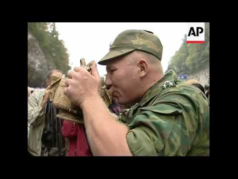 Russian troops arrive in North Ossetia after leaving Georgia