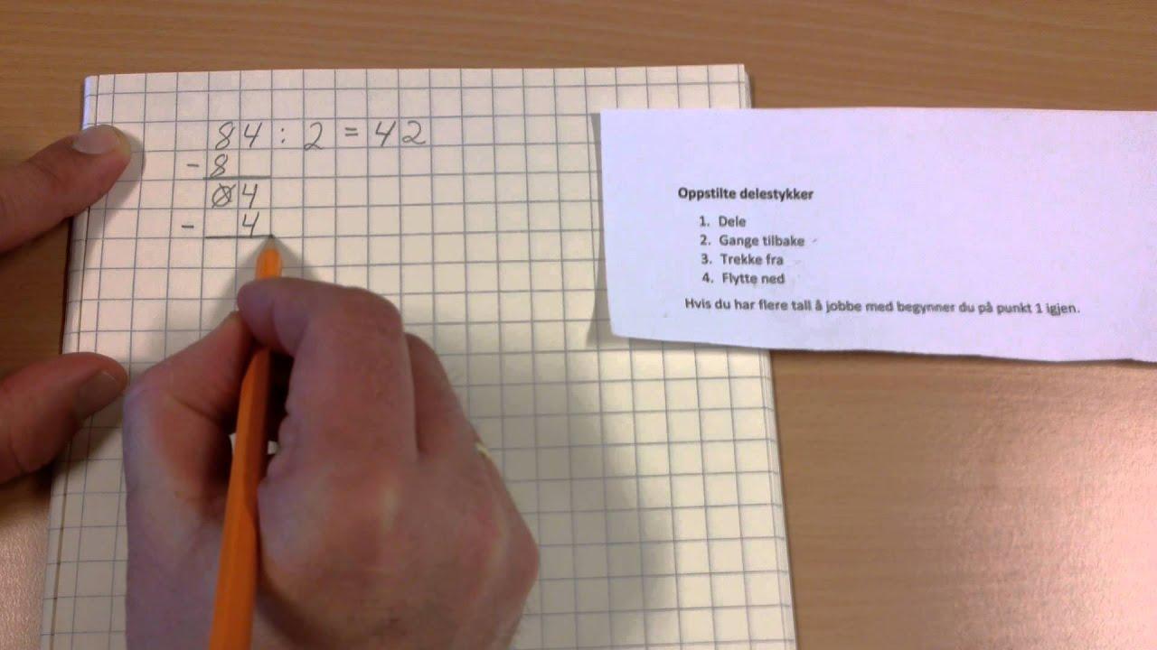 Å dele (dividere) et flersifret tall med et ensifret tall, Mosserød skole