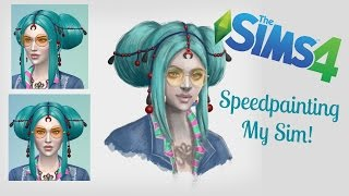 Speed Painting - My Sim | Amy Dahl