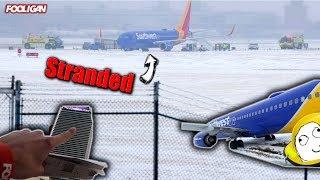 Plane Slides OFF Runway | Stuck in VEGAS Overnight
