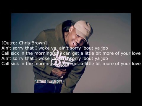Chris Brown Ft. Usher & Zayn - Back To Sleep (Remix) Lyrics