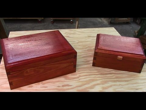 91 Making Cedar box with scroll saw dovetails
