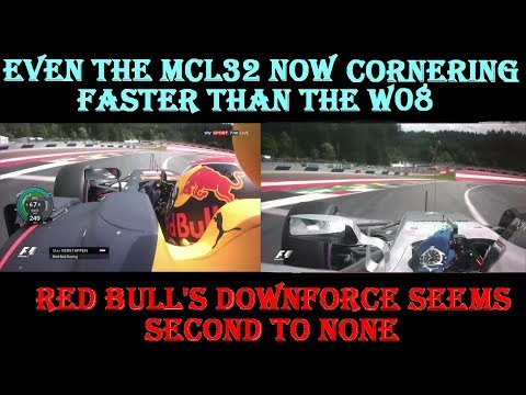Austrian GP Qualifying 2017 - downforce comparison - Mercedes , Red Bull and Mclaren