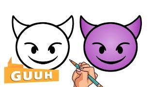HOW TO DRAW THE DEVIL EMOJI