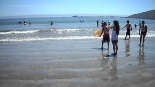 2010 - learning how to body board, sand sliding. Central Coast California
