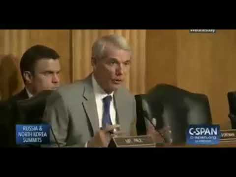 R-OH Rob Portman Questions Pompeo On Russia &NK Summits