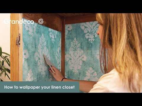 DIY Wallpaper: How to wallpaper a linen closet?
