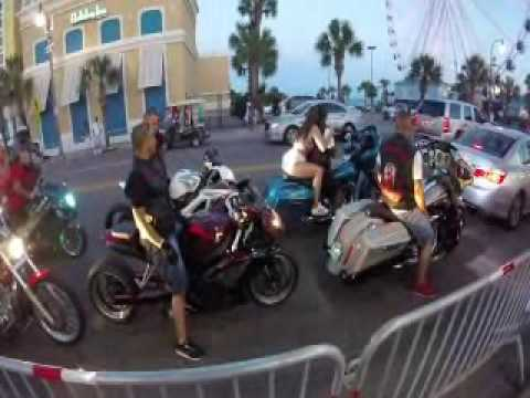 Download Video Black Bike Week Myrtle Beach Sc 2016 Riding
