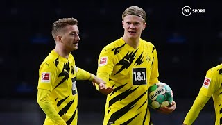 Erling Haaland scores FOUR goals on the day he was crowned Golden Boy of 2020