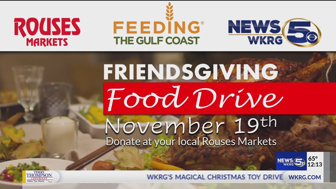 Friendsgiving Food Drive Donate At Your Local Rouses Markets Youtube