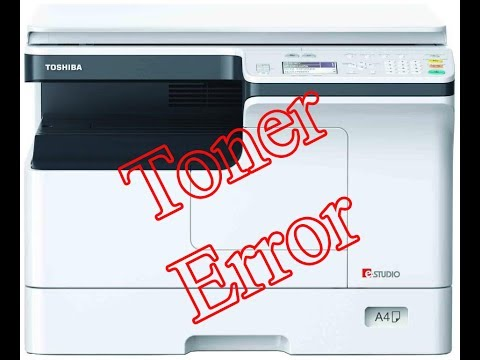 hotw to reset toner error in toshiba estudio photocopier