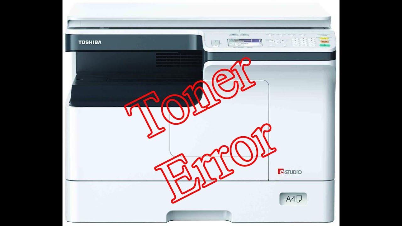 toner error in toshiba estudio photocopier