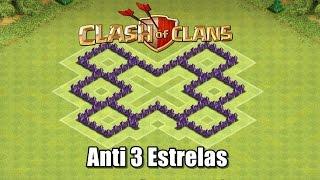Clash Of Clans - Layout de Farm Troll para CV5 Anti 3 Estrelas para Liga Bronze e Prata