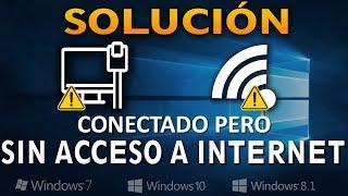 Conectado Pero Sin Acceso A Internet En Windows [7/8.1/10]