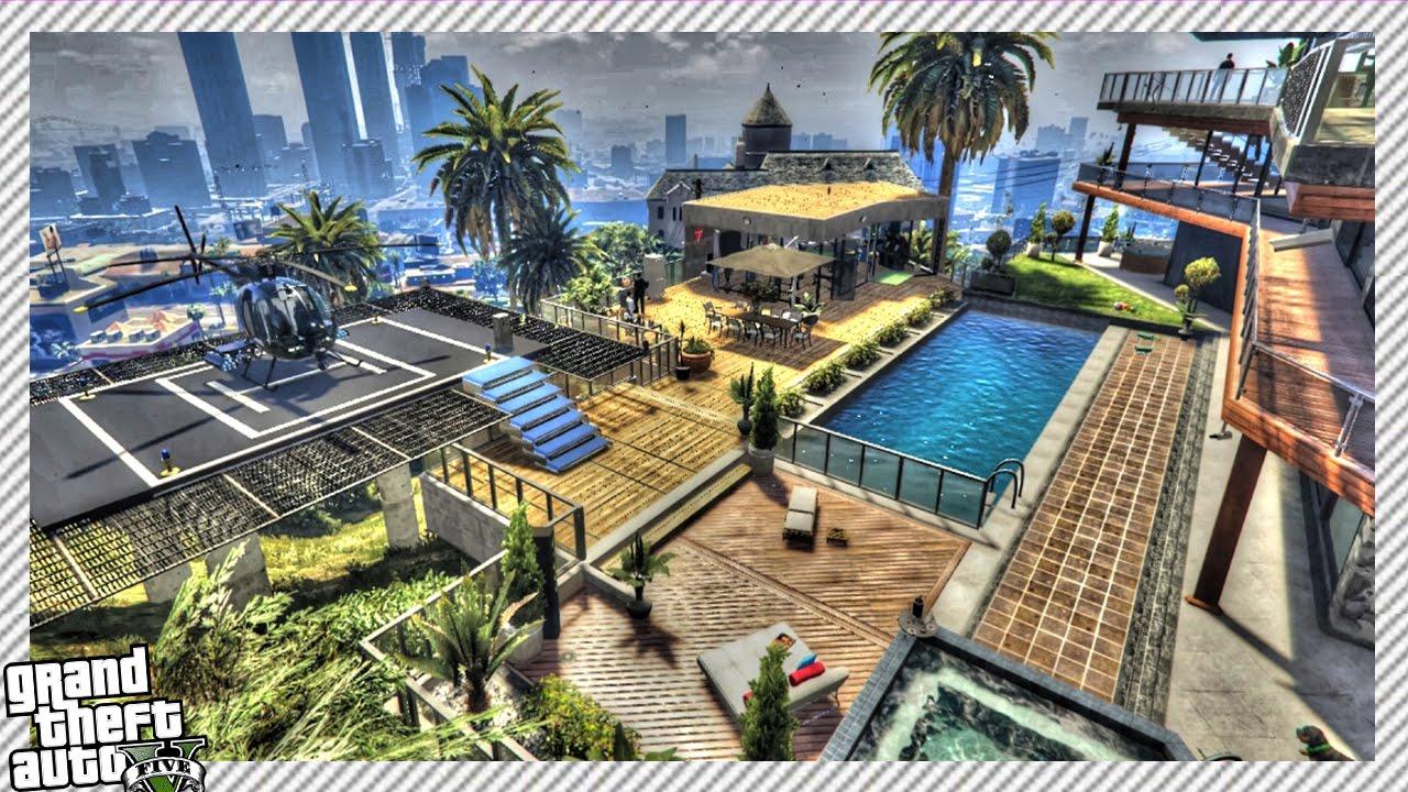 Franklin's Supersized Mansion (GTA 5 MODS)