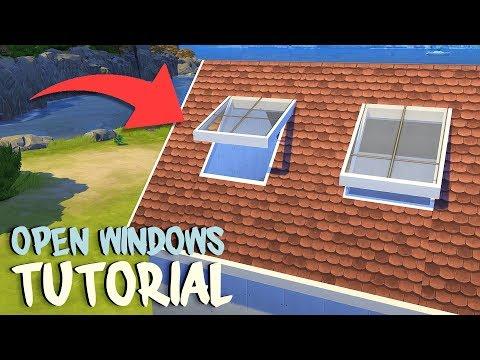 OPEN WINDOWS, SKY LIGHT & LOFT ROOM TUTORIAL | The Sims 4 | Tutorial